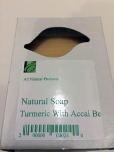natural soap turmeric acai